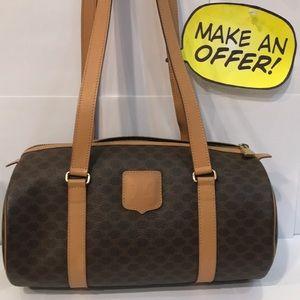 Authentic Celine Monogram Vintage Tote Handbag